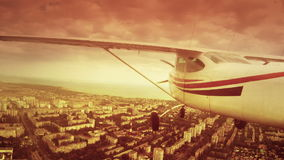 Flight on a private jet stock video footage