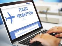 Flight Promotion Offer Plane Traveling Concept. Flight Promotion Offer Traveling Concept stock photo