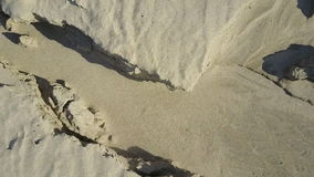 Flight on quadcopter over sand stock footage