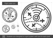 Flight radar line icon. Royalty Free Stock Images