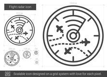 Flight radar line icon. Stock Image