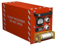 Flight Recorder. 3D illustration of a generic flight recorder, otherwise known as a 'black box Royalty Free Stock Photo