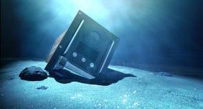 Flight Recorder Under The Sea Stock Photos