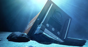 Flight Recorder Under The Sea Royalty Free Stock Images