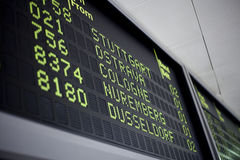 Flight schedule Royalty Free Stock Photography