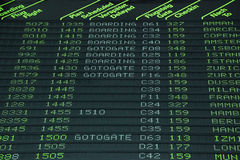 Flight schedule Stock Image