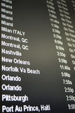 Flight schedule board Stock Image
