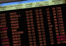 Flight Schedule board Royalty Free Stock Photography