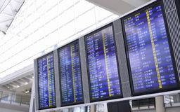 Flight schedule on board of Hongkong Stock Images