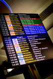 Flight schedule Stock Photography
