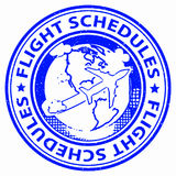 Flight Schedules Means Flying Departures And Planning Royalty Free Stock Images