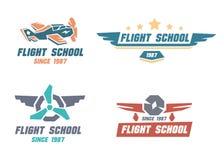 Flight school emblems Stock Images