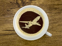 Flight service provides coffee Royalty Free Stock Image