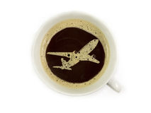 Flight service provides coffee Royalty Free Stock Images