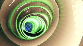 Flight through the shimmering multi-colored tunnel stock footage