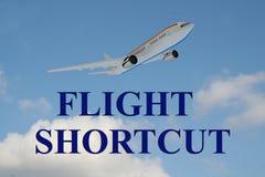 Flight Shortcut - business concept Stock Image