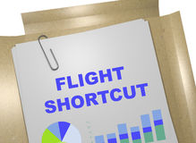 Flight Shortcut concept Royalty Free Stock Images
