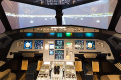 Flight simulator cockpit Stock Photography