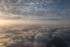 A flight in the sky. With sundown Royalty Free Stock Photography
