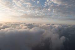 A flight in the sky. With sundown Stock Photo
