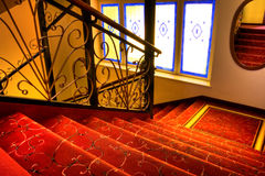 Flight of stairs. In hotel Stock Images