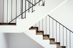 Flight of stairs. In a new house Royalty Free Stock Images
