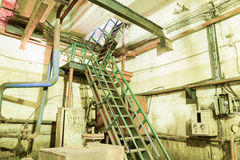 A flight of stairs from the basement of the pumping station. Stock Photography