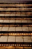 Flight of stairs at night Royalty Free Stock Images