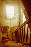 The flight of stairs in an old house. Stock Image