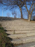 Flight of stairs in park. Cement stairs in Tineretului park in Bucharest Stock Photo