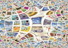 Flight Stamps Royalty Free Stock Photos