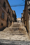 Flight of steps. Flight  of steps in noto, sicily Stock Photography