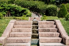 Flight of steps in a garden Royalty Free Stock Image