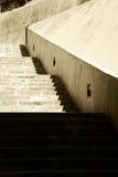 Flight of steps, sepia hue Stock Photos