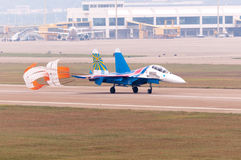 Flight su-27 Royalty Free Stock Photo