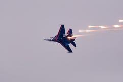 Flight su-27 Royalty Free Stock Images