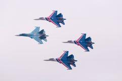 Flight su-27 team Royalty Free Stock Image