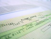 Flight ticket 1 Stock Photos