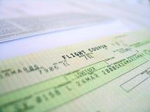 Flight ticket 1. Flight ticket, detailed stock photos