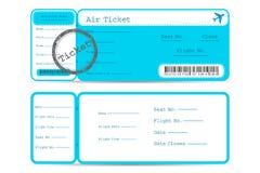 Flight Ticket Stock Photo