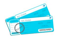 Flight Ticket Stock Photo