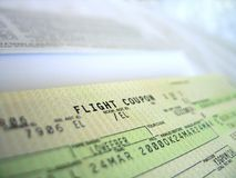 Flight ticket 3. Flight ticket, detailed Royalty Free Stock Photos