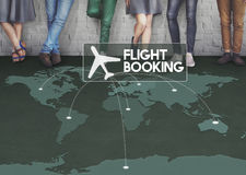 Flight Ticket Booking Destination Journey Concept Royalty Free Stock Photos