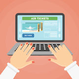 Flight ticket search. Stock Images