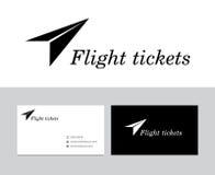 Flight tickets logo vector illustration