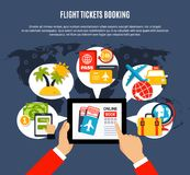 Flight Tickets Online Booking Poster Stock Photography