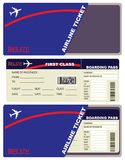 Flight Tickets to Belize Royalty Free Stock Image