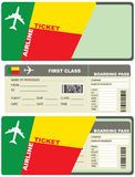 Flight Tickets to Benin Stock Image