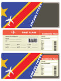 Flight Tickets to Congo Royalty Free Stock Photos