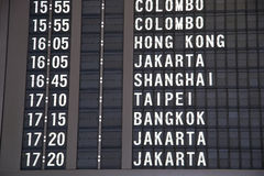 Flight time in Singapore airport Royalty Free Stock Photos